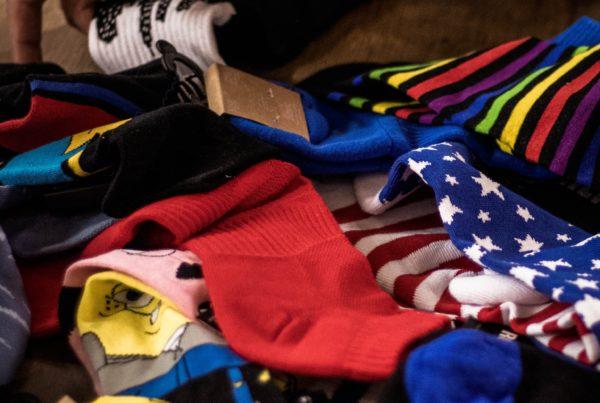 Chaussettes thématiques pour garçons et filles et en différentes tailles.