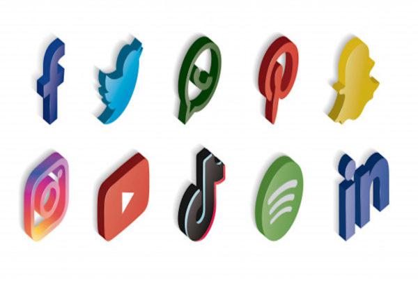 ensemble des logos des médias sociaux