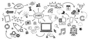 illustration du concept médias sociaux